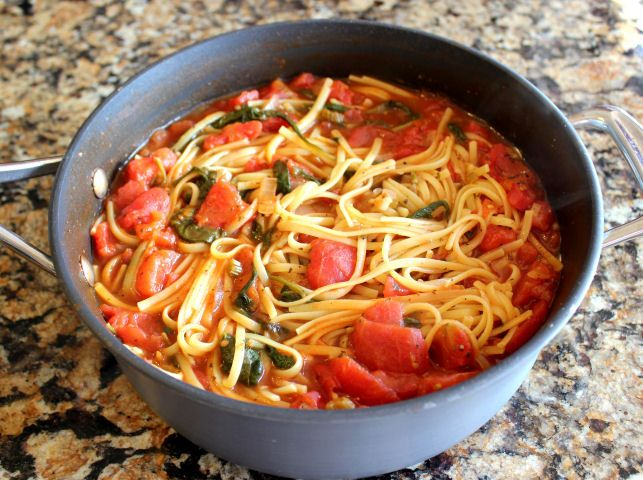 One Pot Italian Noodles - every single ingredient needed to make these fabulous Italian noodles is placed into one solitary pot…brought to a boil and left to simmer away and cook into a flavorful delight. No need to cook the noodles separately and dirty another pot.