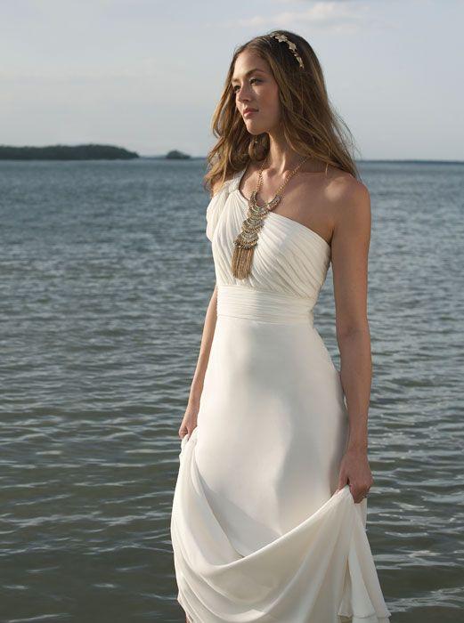 One Shoulder Destination Dress Perfect Destination Wedding Dresses