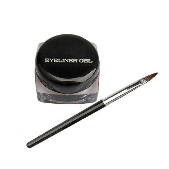 Waterproof Eye Liner Eyeliner Gel Makeup Cosmetic + Brush Black Liquid Eyeliner  HB88