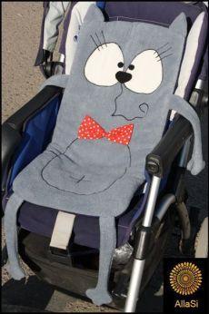 Funny cat stroller liner.