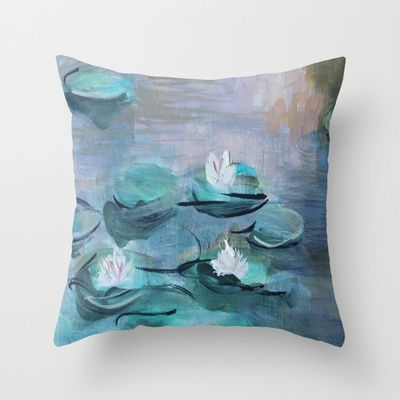 On sale! Check out the link for more informations #society6 #waterlilies #painting #giulialauren #pillow #sale #art