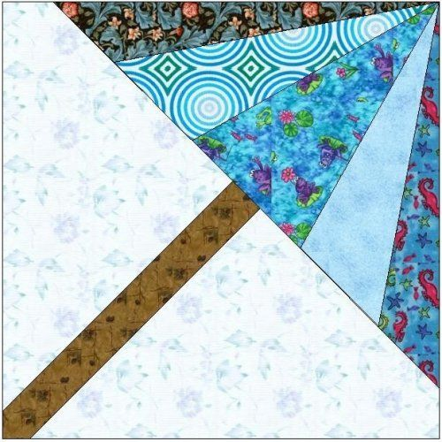 Easy Large Quilt Block Patterns | ... QUILT BLOCK PATTERN .PDF -095A | AllStitches - Patterns on ArtFire