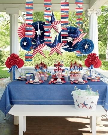 Throw a beautiful party with these great ideas-- Red, White, and Blue Bash