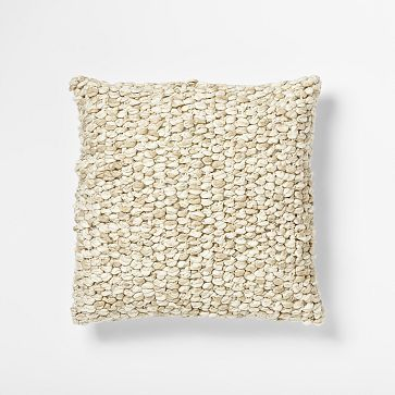 Looped Tassel Pillow Cover - Ivory