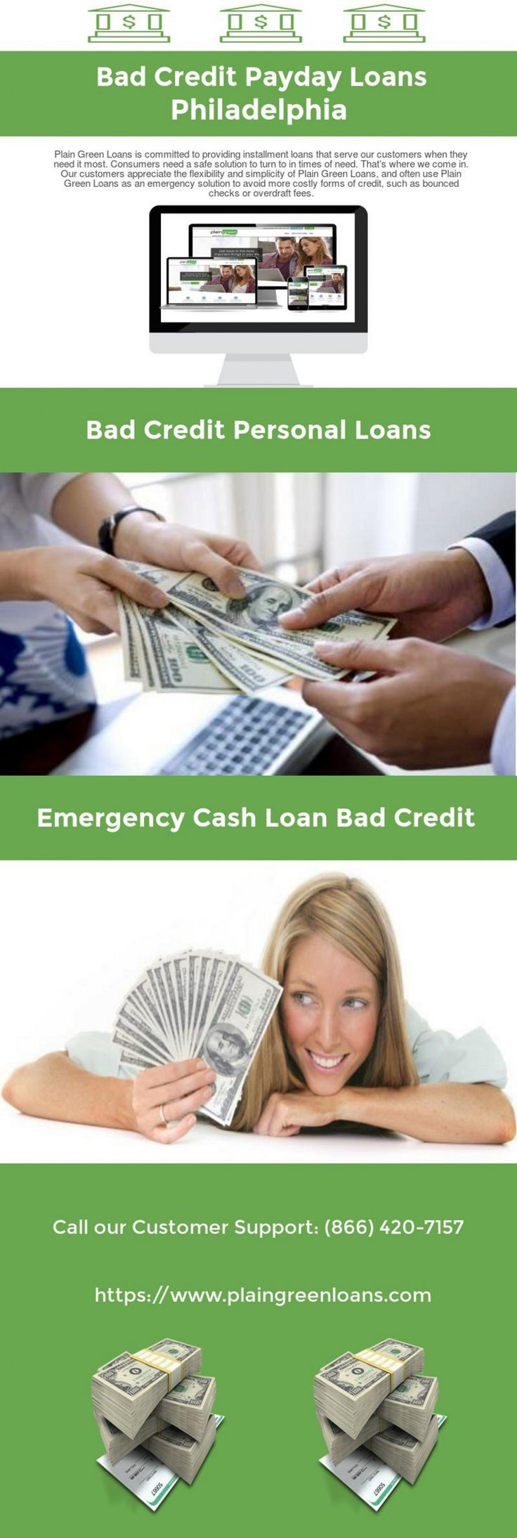 Bad Credit Payday Loans in Philadelphia Infographic