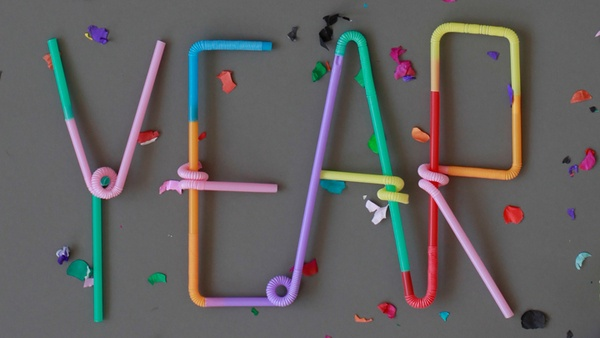 Typography lover by Pablo Alfieri, via Behance #straws #happy new year