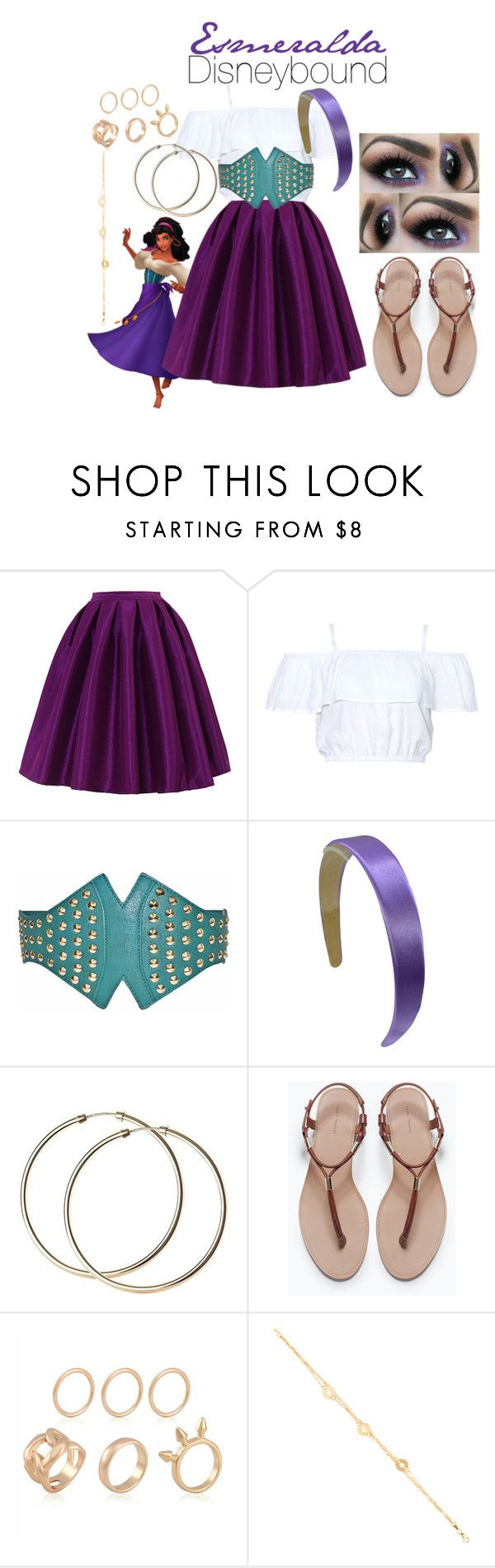 """Esmeralda Disneybound"" by maydayhailee ❤ liked on Polyvore featuring Chicwish and Zara"