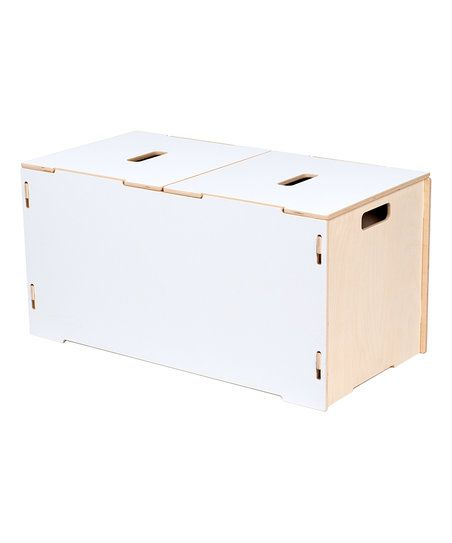 Sprout White Toy Box & Lid | zulily