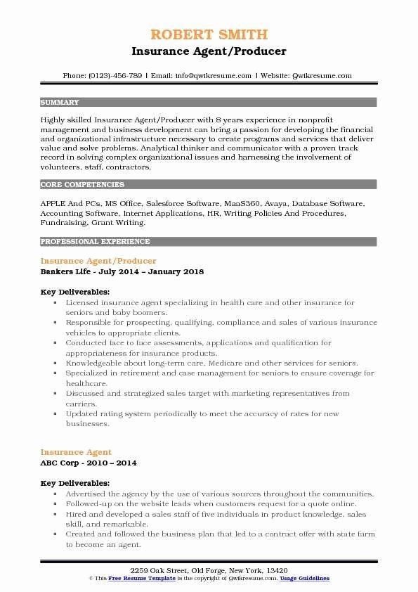 Insurance Agent Resume Job Description Inspirational Insurance Agent Resume Samples Counselor Job Description Job Resume Samples Sales Resume Examples
