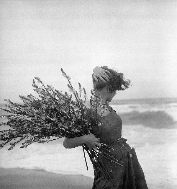 Georges Dambier - Fiona Campbell-Walter in summer dress by Lanvin-Castillo, Corsica, Nouveau Femina, June 1954