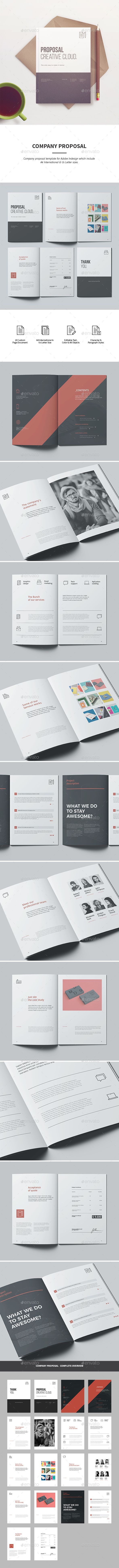 Proposal template for Adobe InDesign it comes in International A4 & Us Letter size.