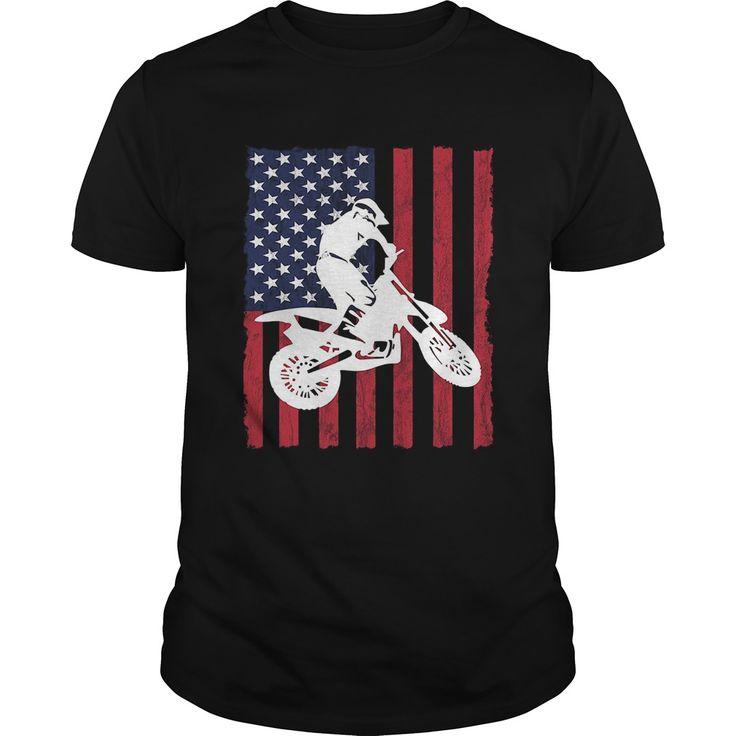 Usa dirtbike motocross t shirt - Tshirt