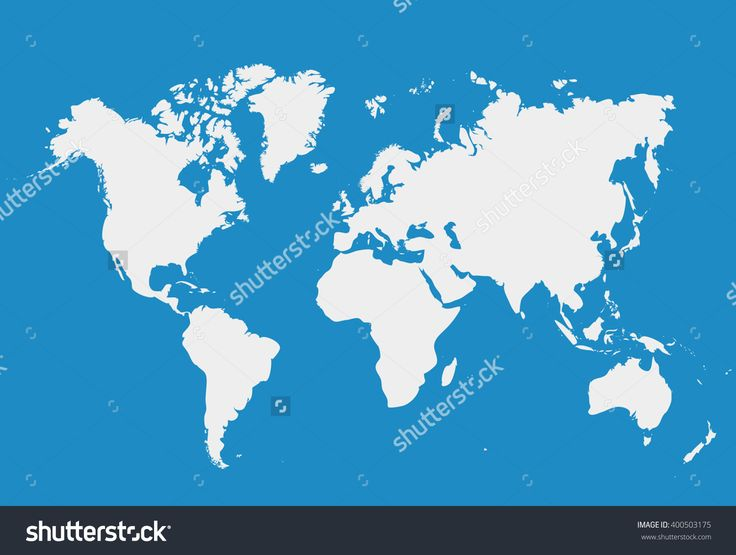 Blank White simillar World map isolated on blue background. Worldmap Vector template for website, design, cover, infographics. Flat Earth Graph illustration.