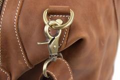 "Vintage Leather Duffle Bag, Leather Travel Bag, Mens Weekend Bag  Model Number: DZ07 Dimensions: 20.4""L x 9""W x 10.2""H / 52cm(L) x 23cm(W) x 26cm(H) Weight: 5l"