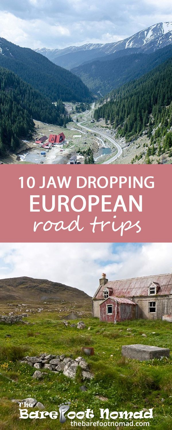Jaw-dropping European road trips to explore.