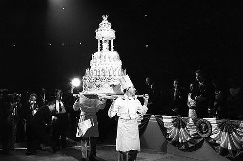 Birthday cake for president Kennedy....It's HUGE!