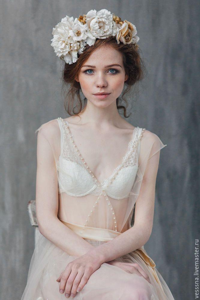 Flower tiara / Купить Венок. Украшение из шелковых цветов. Цветы из шёлка. - цветы из шелка, шелковые цветы
