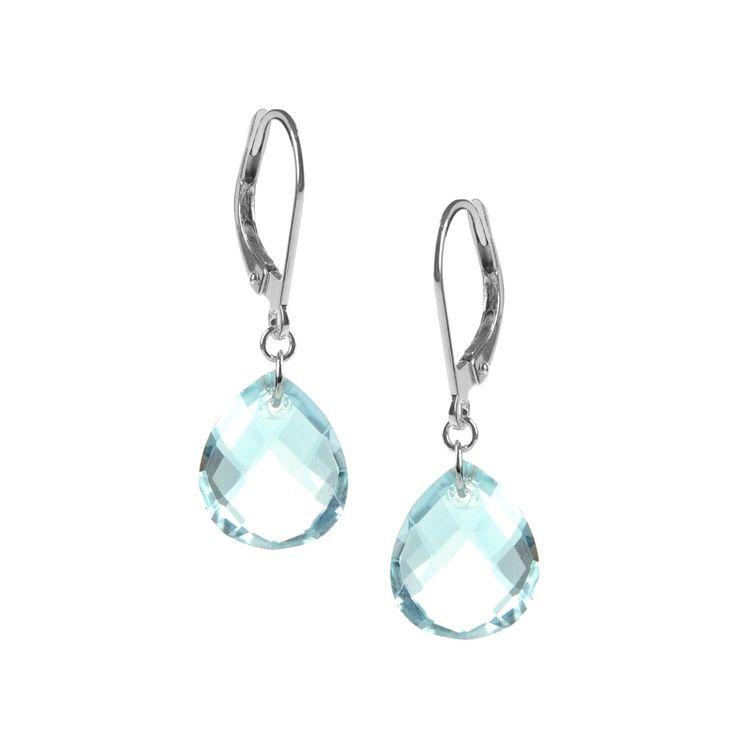 Boucles d'oreilles - Fabriquées en or blanc 18 carats - Topaze -  Be Jewels - #earrings #topaze #jewels