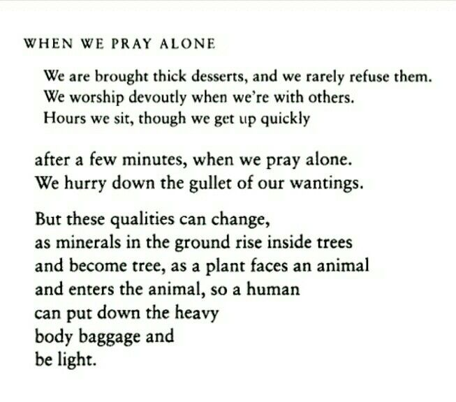The Essential Rumi - when we pray alone