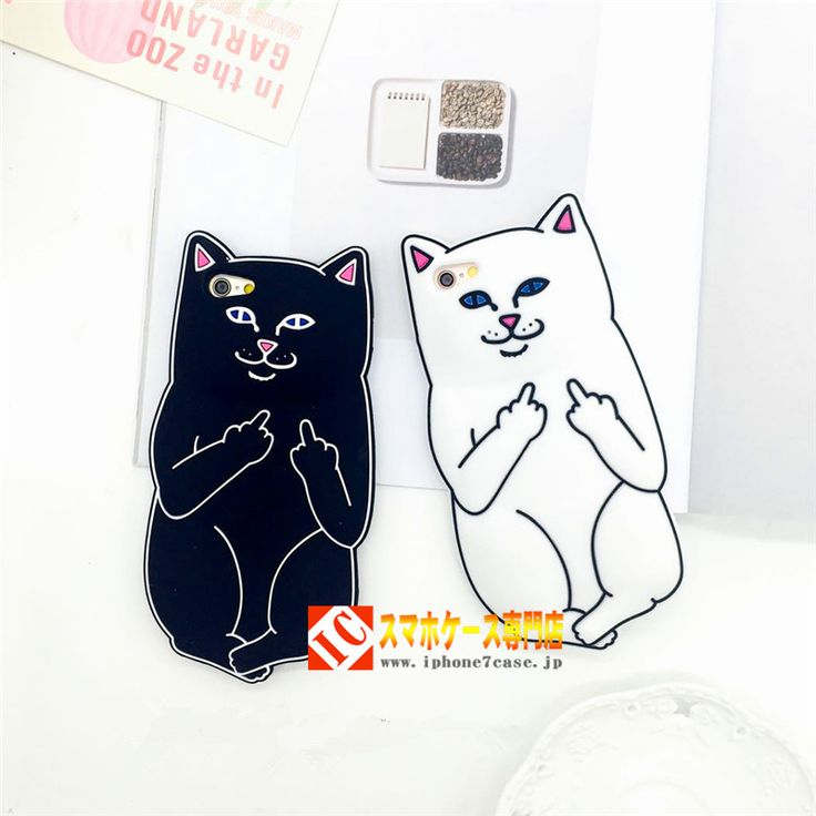 かわいいキャラクターLord Nermal RIPNDIPリップンディップiphone7ケースシリコン製ネコ ねこ キャット 白携帯カバースマホケース6plus黒5sソフトケース