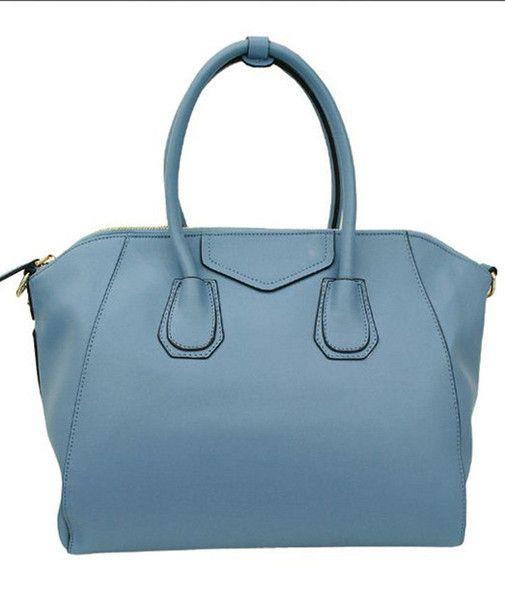 Light Blue Italian Leather Bags for Women's Bags