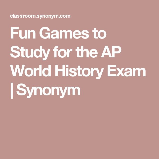 Fun Games to Study for the AP World History Exam | Synonym