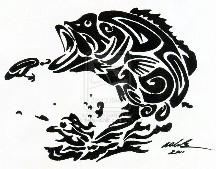 Tribal Fish Tattoos Tribal tattoo fish: nice | Outfit Inspiration: stencil ideas | Pinterest ...