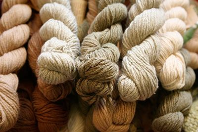 Naturally pigmented cotton from Pre-Colombian farming practices. Archaeology and fiber all in one.