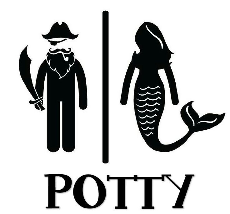 Potty sign for Under the Sea or Mermaid party!