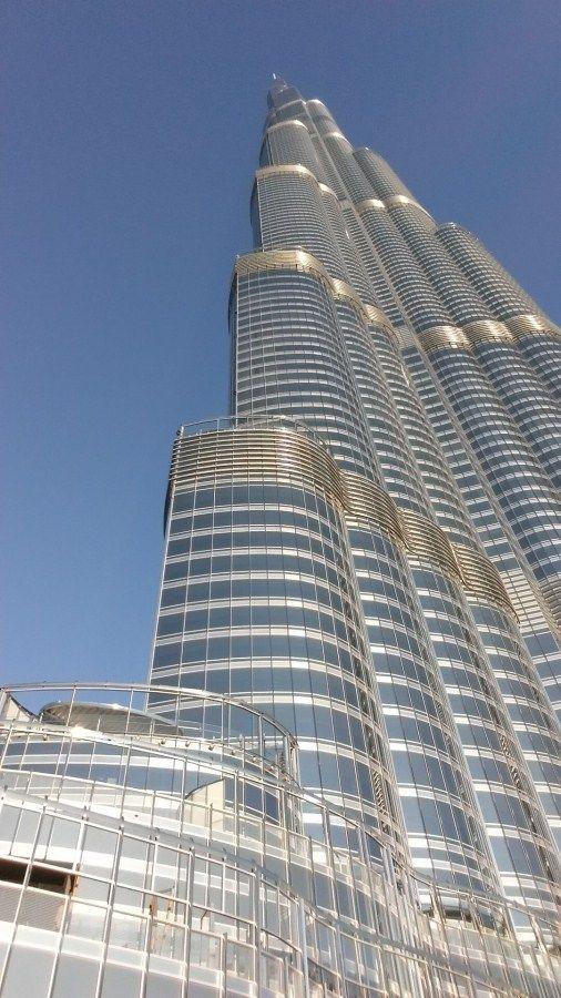 Detalle Burj Khalifa Tower (Dubai), edificio más alto del mundo.