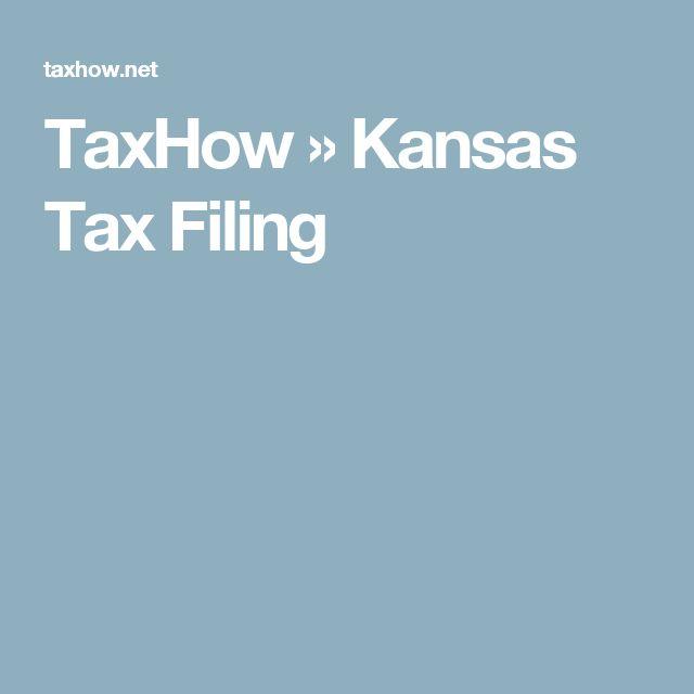 TaxHow » Kansas Tax Filing