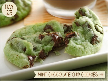 mint chocolate chip cokies