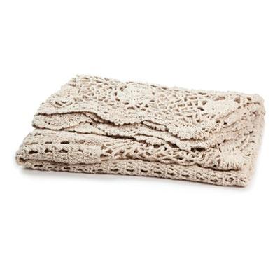 Aura Crochet Throw in Natural
