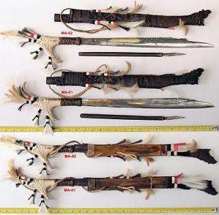 Mandau, traditional weapon of Kalimantan ( Borneo )