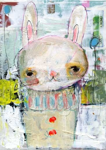 Fiddlewink  mixed media art print by Mindy Lacefield by timssally, $18.00