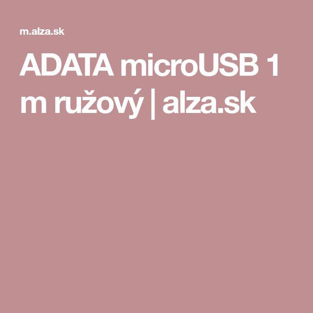 ADATA microUSB 1 m ružový | alza.sk