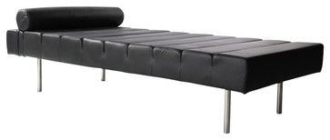 Classic Daybed Black - contemporary - Bedroom Benches - Contemporary Furniture Warehouse