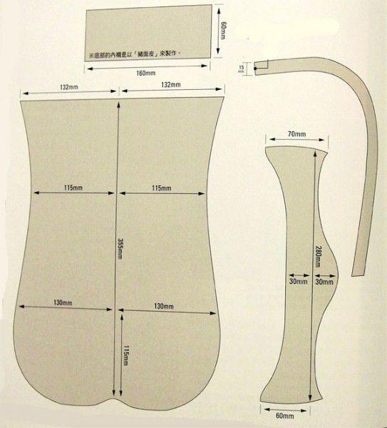 How to sew a bag of leather. Pattern 1 / Как сшить сумку из кожи. Выкройка 1
