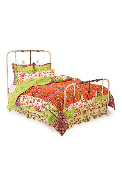 """Kumala Rose Quilt from Anthropology - discontinued. Quilt on Penny's bed in the """"Big Bang Theory"""" - wish I could find where to buy it!!!"""