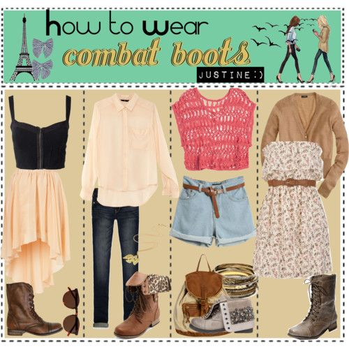 Combat boots cute outfits!