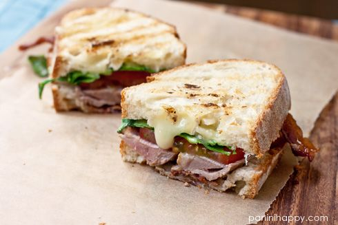 Grilled Duck Breast Club Panini...with panini-grilled duck breast ...