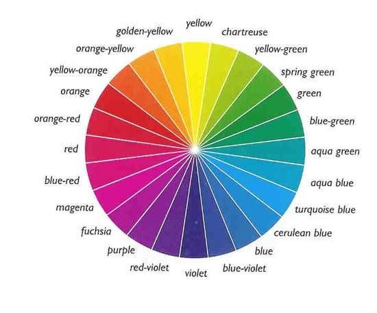 Colour wheel guide to choosing flower colour scheme in the gargen.