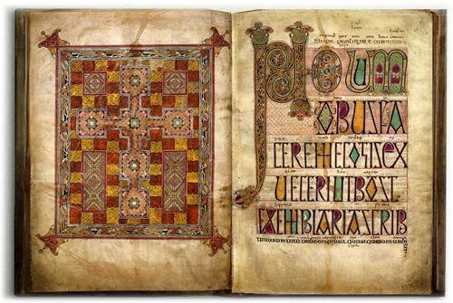 The Lindisfarne Gospel, uno dei più bei manoscritti alto-medievali, così come appare nella versione digitale offerta dalla British Library.