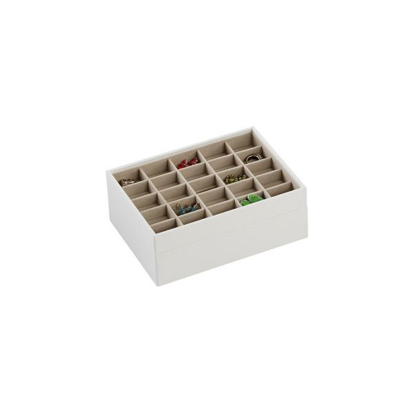 White Classic Stackers Premium Stackable Jewelry Box | The Container Store