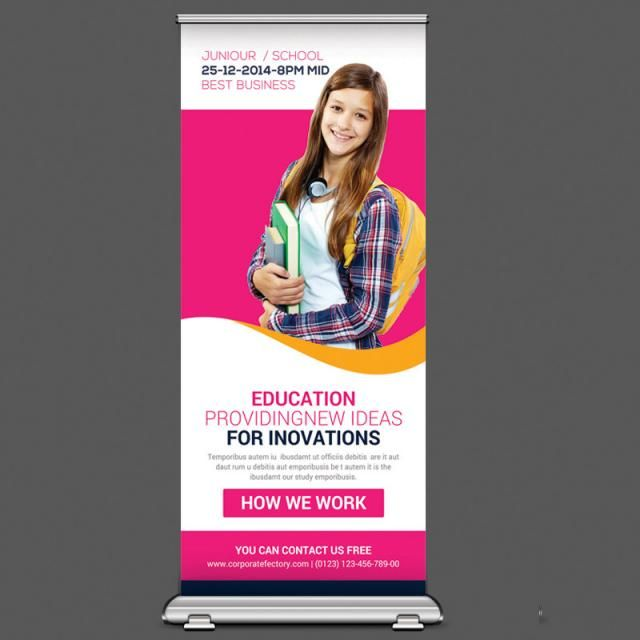 Education Rollup Banner Template Rollup Banner Banner Template Education Banner