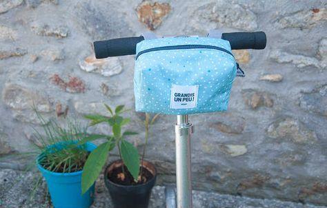 Patron gratuit : le sac à guidon Ce sac convient pour une trottinette ou pour un vélo ! Reallsy practical bag for scotter or bikes