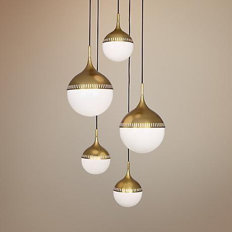 Jonathan adler rio 27 wide antique brass chandelier