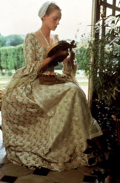 Uma Thurman as Cécile de Volanges in Dangerous Liaisons (1988). Period Drama