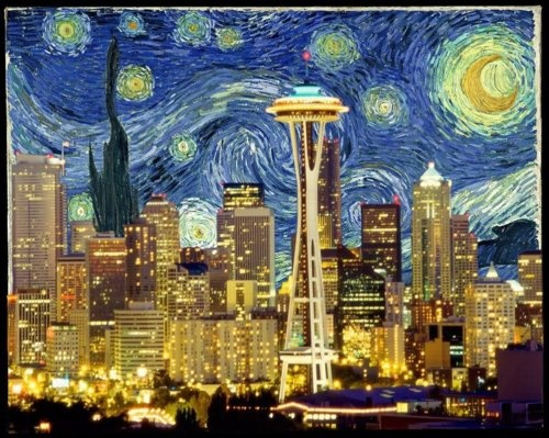 Seattle. Definitely going to find this to print on a canvas! And Rob likes it too. WHO would have thought. winning