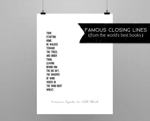 IN COLD BLOOD // Truman Capote // quote poster // minimalist